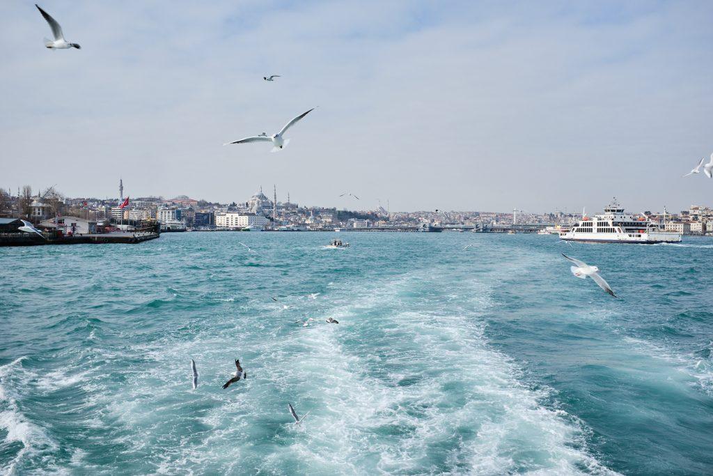 Vožnja po Bosporski ožini na potovanju v Istanbul