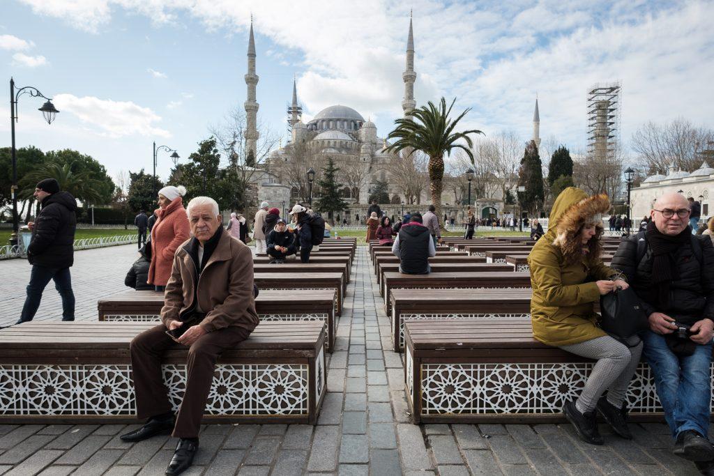 Pogled na Modro mošejo, Istanbul