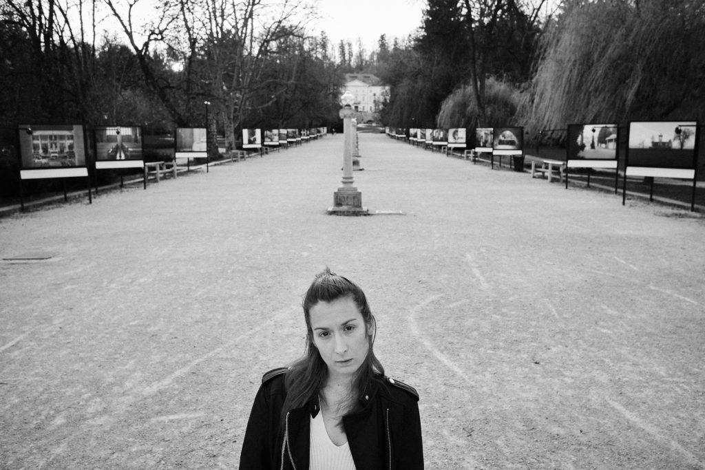 Park Tivoli brez ljudi v času karantene