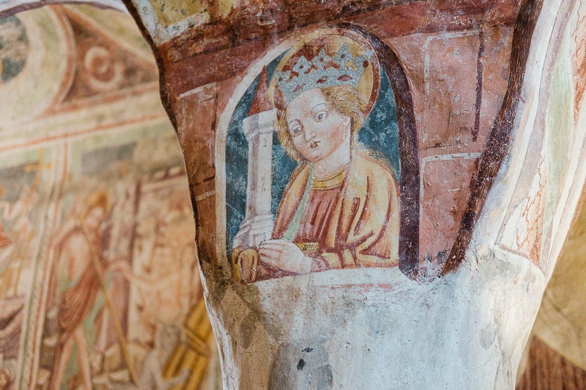 Sveta Barbara - Cerkev Svete Trojice, Hrastovlje
